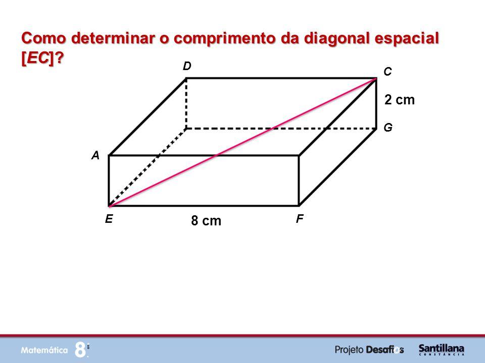 Como determinar o comprimento da diagonal espacial [EC]